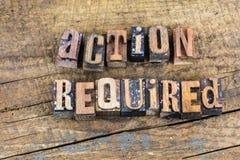 Tome la prensa de copiar requerida acción Fotografía de archivo libre de regalías