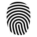 Tome las huellas dactilares la imagen simple de color del icono del estilo plano negro del ejemplo Imágenes de archivo libres de regalías