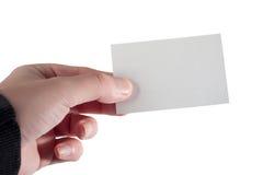 Tome mi tarjeta Fotografía de archivo