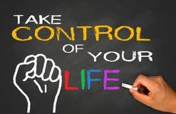 Tome o controle de sua vida Imagem de Stock