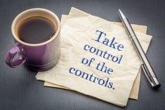 Tome o controle dos controles Imagem de Stock