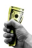 Tome o dinheiro e o funcionamento imagem de stock