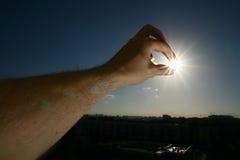 Tome o sol fotografia de stock