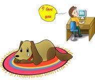 Tome por favor el cuidado de su pequeño perrito en vez de t Imágenes de archivo libres de regalías