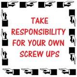 Tome a responsabilidade ilustração royalty free