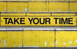 Tome seu tempo Fotografia de Stock Royalty Free