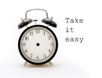 Tome seu tempo no despertador Imagens de Stock
