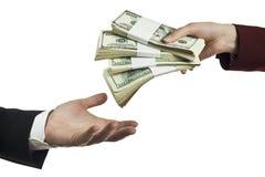 Tome su dinero Fotos de archivo