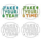 Tome su tiempo y té Imagen de archivo libre de regalías