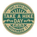 Tome um dia da caminhada, o 17 de novembro ilustração stock