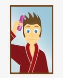 Tome um olhar no espelho Imagens de Stock