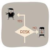 Tome um risco ilustração stock