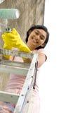 Tome uma ruptura durante a pintura imagens de stock