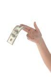 Tome un dólar Foto de archivo libre de regalías