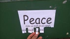 Tome una cierta paz de Nimbin Fotos de archivo libres de regalías