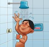 Tome una ducha stock de ilustración