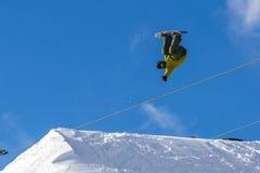 Tomek Tylka polsk snowboarder Arkivfoton