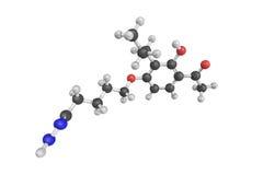 Tomelukast, en antiasthmatic drog och leukotrieneantagonist 3d Royaltyfri Bild