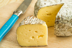 Tomette des Alpes, cheese of France Royalty Free Stock Photo