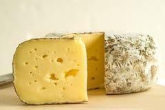 Tomette des Alpes, kaas van Frankrijk royalty-vrije stock afbeelding