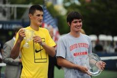 Tomic & Buchanan Juniors winners US Open 2009 Royalty Free Stock Image