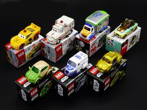 Tomica Cars Collections Royalty Free Stock Images