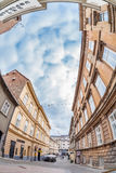 The Tomiceva street under Zagreb funicular Stock Photography