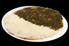 Tomilho e queijo de Manouche Foto de Stock