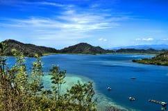 Tomini海湾,北部苏拉威西岛,印度尼西亚 免版税图库摄影