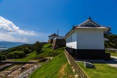 Tomioka Castle on the hill in Amakusa, Kumamoto, Japan.  stock images