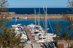 Tomis marina luxury boats Royalty Free Stock Images