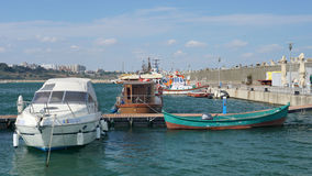 Tomis Port in Constanta City, Romania Royalty Free Stock Image
