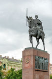Tomislav国王纪念碑 库存图片