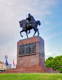 tomislav,萨格勒布国王雕象  免版税库存照片