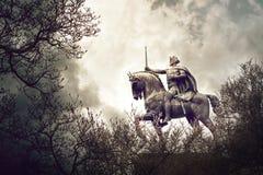 Tomislav,萨格勒布,克罗地亚国王雕象  免版税库存照片