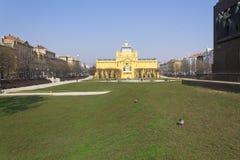 Tomislav square zagreb Royalty Free Stock Image