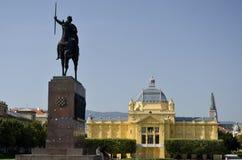 Tomislavov fyrkant, Zagreb 2 Fotografering för Bildbyråer