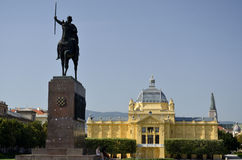 Tomislavovvierkant, Zagreb 2 stock afbeelding