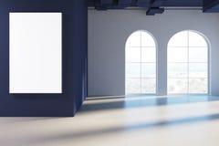 Tomma ärke- fönster hyr rum, det blåa taket, affisch royaltyfri illustrationer