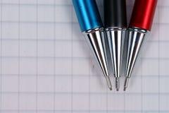 tomma anteckningsboksidablyertspennor Fotografering för Bildbyråer