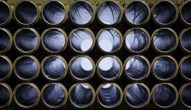Tomma axlar för raketgevär arkivbilder