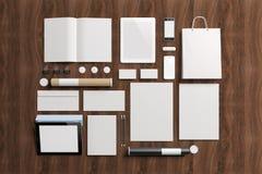 Tomma beståndsdelar för företags identitet arkivfoton