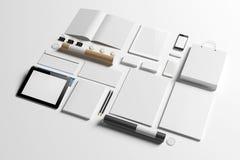 Tomma beståndsdelar för företags identitet stock illustrationer
