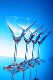 tomma exponeringsglas martini Royaltyfria Foton