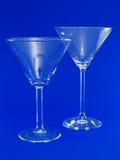 tomma exponeringsglas martini två Arkivbild