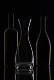 Tomma exponeringsglas och flaskor Royaltyfria Bilder