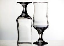 tomma exponeringsglas två Fotografering för Bildbyråer