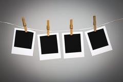 Tomma fotoramar på linje Arkivfoto