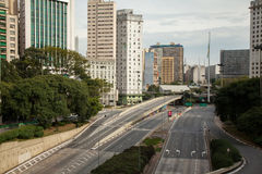 Tomma gator i Sao Paulo Arkivfoton