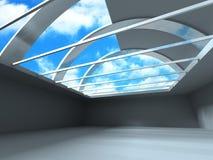 Tomma Hall Architecture Design Interior Arkivbild